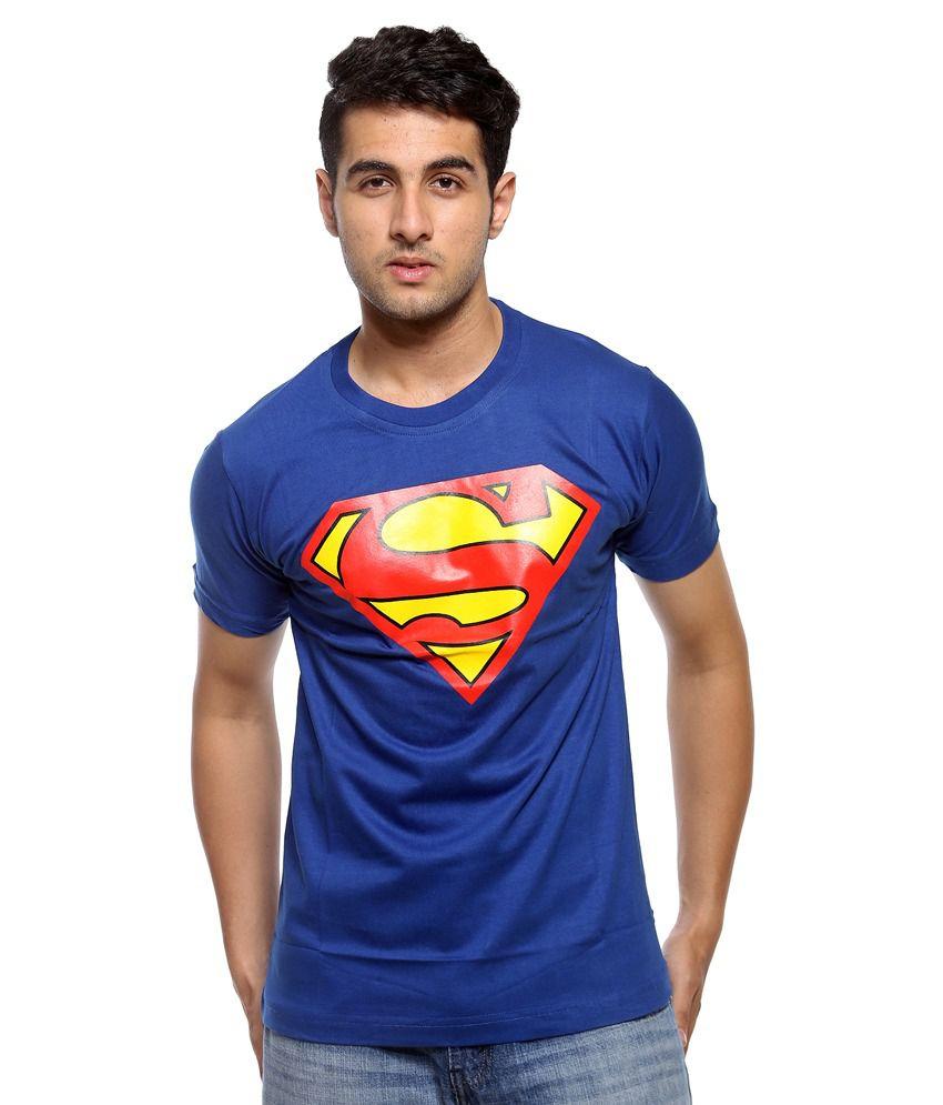 Attitude Blue Cotton T Shirt