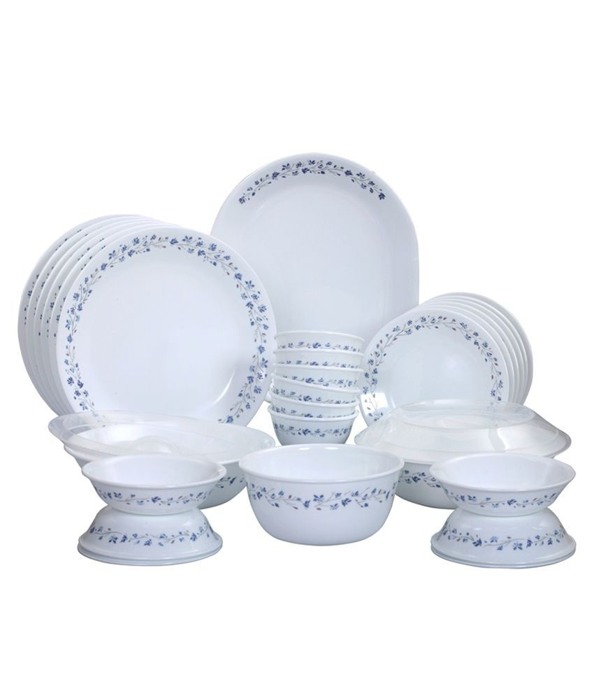 Corelle Glass Dinner Set Of 30 Buy Online At Best Price In India Snapdeal