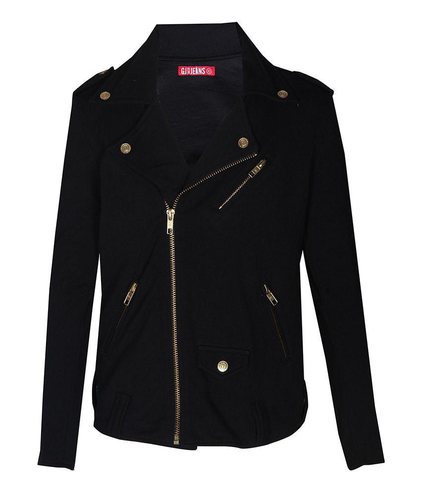 Gini & Jony 100% COTTON Black Jacket For Kids