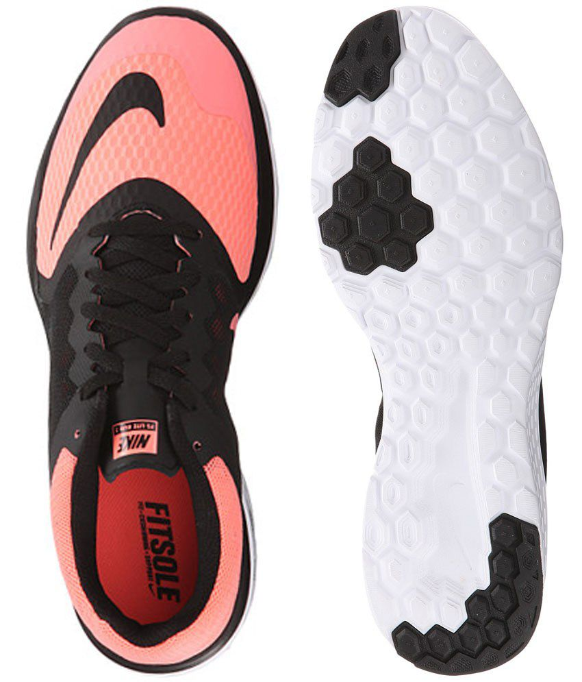 low priced a0c6c 77477 Nike Fs Lite Run 3 Black and Pink Sports Shoes Price in India- Buy Nike Fs  Lite Run 3 Black and Pink Sports Shoes Online at Snapdeal