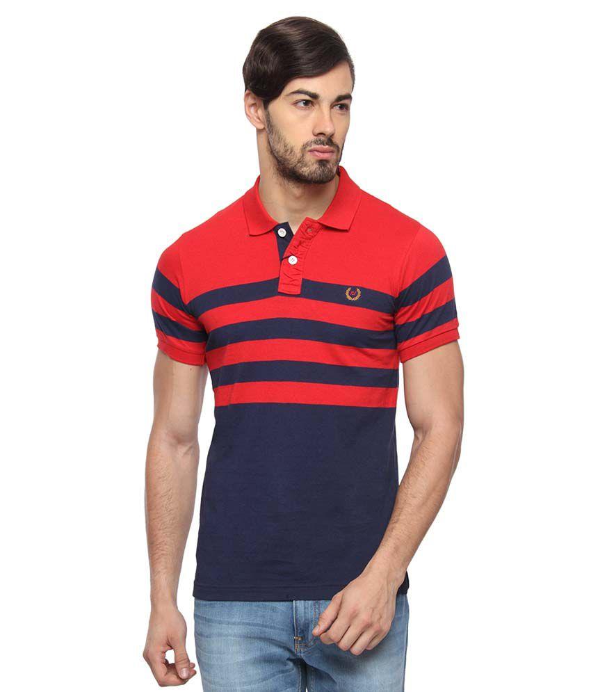 Rockstar Jeans Red Cotton Blend T-shirt