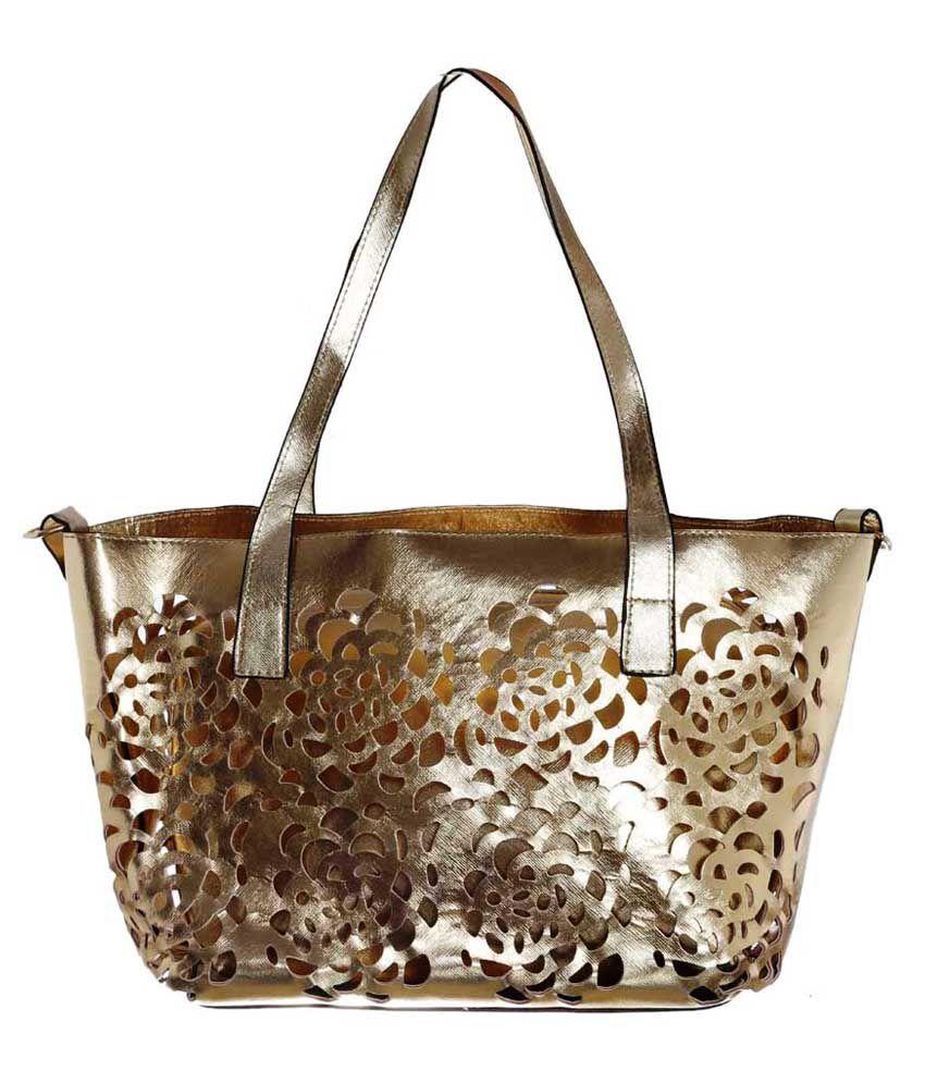 Vanpre Golden Shoulder Bag