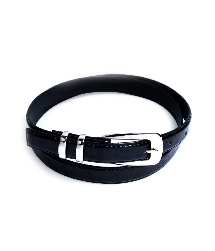 Contra Black PU Casual Belts