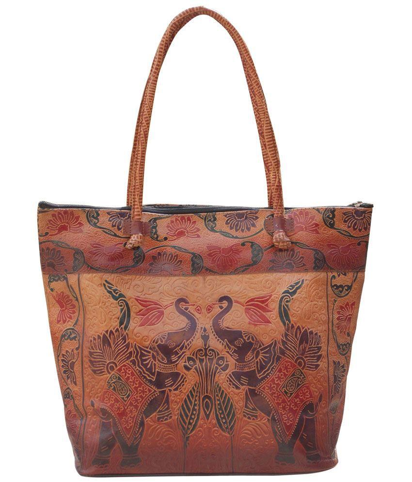Ekora Multicolor Leather Tote Bag