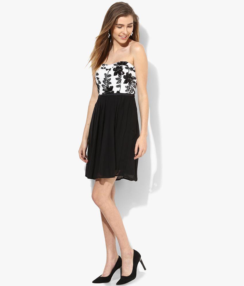 vero moda black casual tube dress - buy vero moda black casual tube