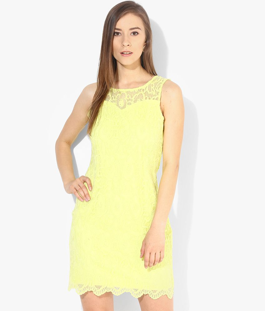 932e13cf9d9e Vero Moda Yellow Casual Bodycon Dress - Buy Vero Moda Yellow Casual Bodycon  Dress Online at Best Prices in India on Snapdeal