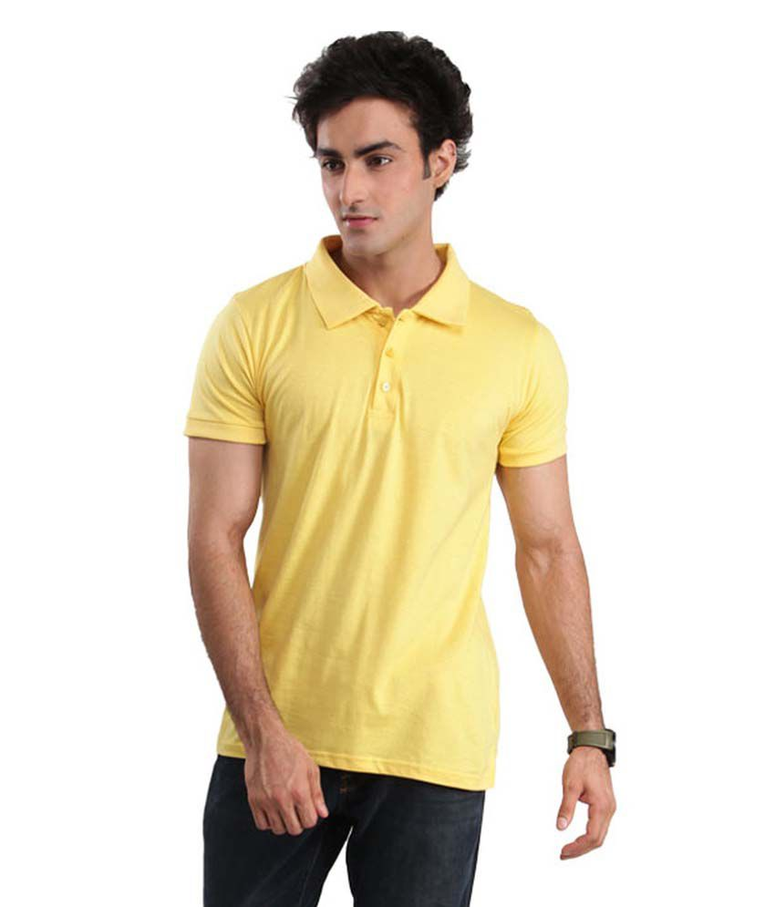 Breeze Apparels Yellow Half Sleeves Polo T-shirt