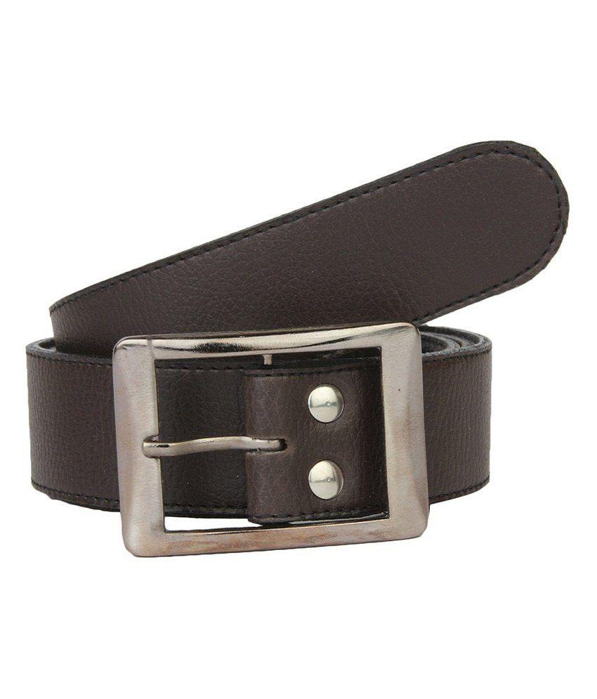 Lime Black Casual Belt