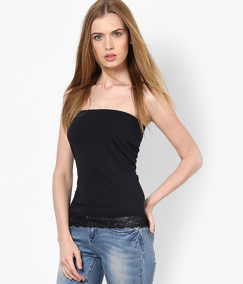 buy only black tube top online at best prices in india - snapdeal