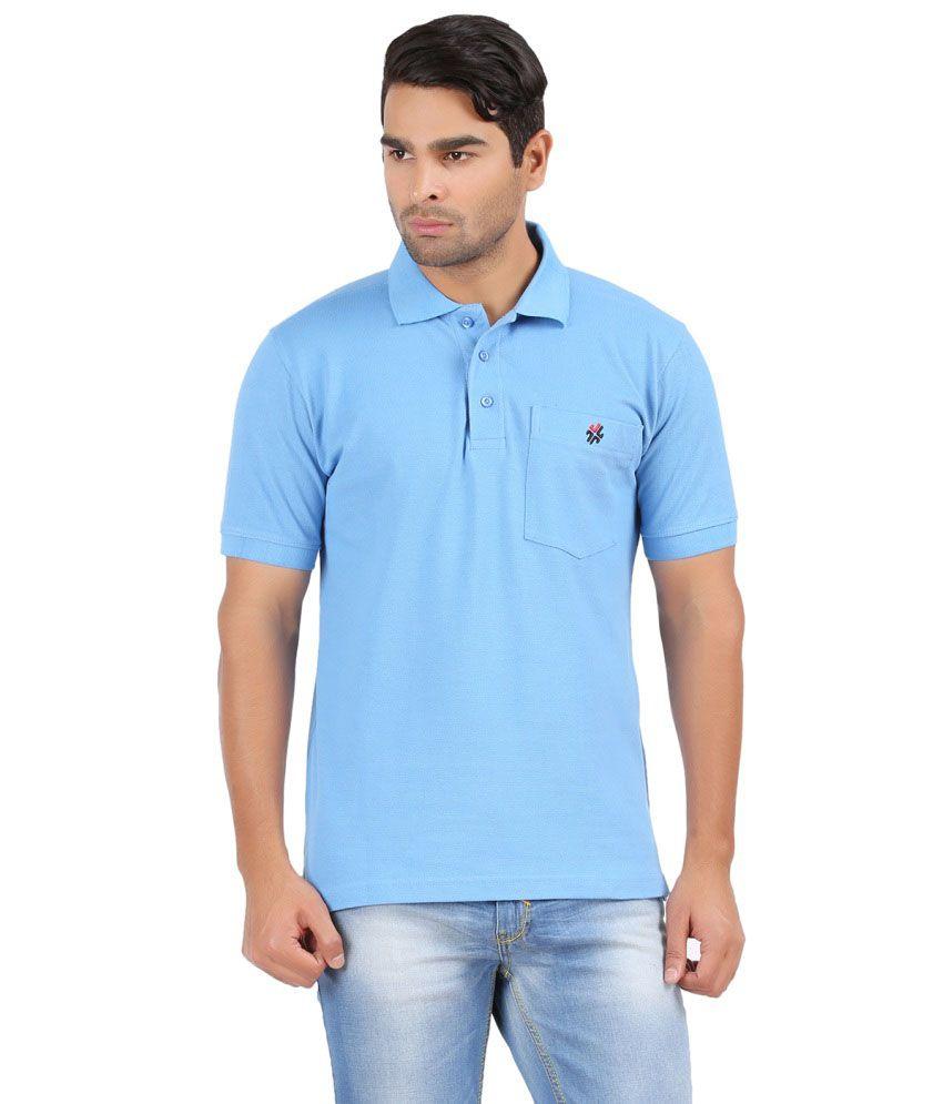 4th Need Blue Half Basics Polo T-shirt