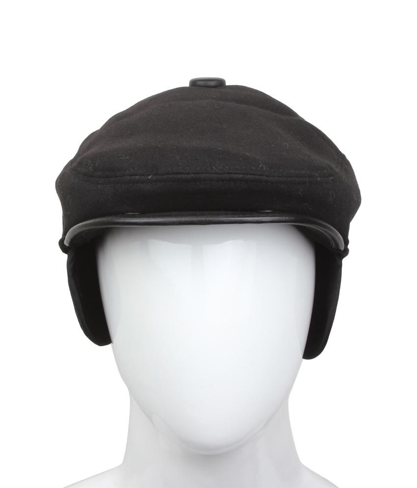 Alvaro Castagnino Black Cotton Golf Cap For Men
