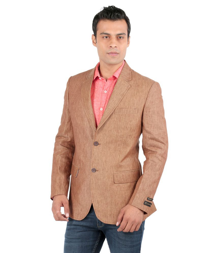 Jhampstead Brown Linen Blazer