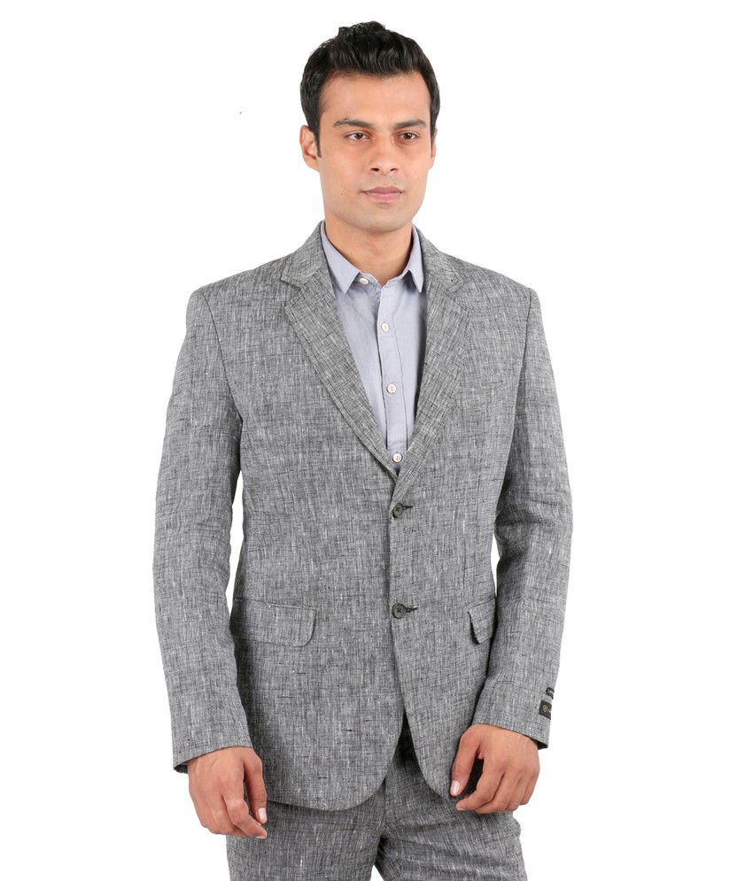 Jhampstead Grey Linen Suit