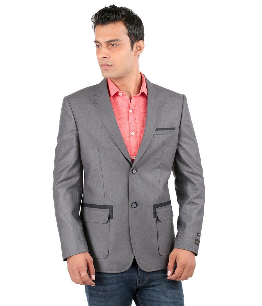 Jhampstead Grey Rayon Blazer