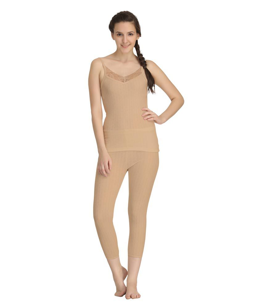 Kanvin Soft Camisole Thermal Set (Top And Bottom)