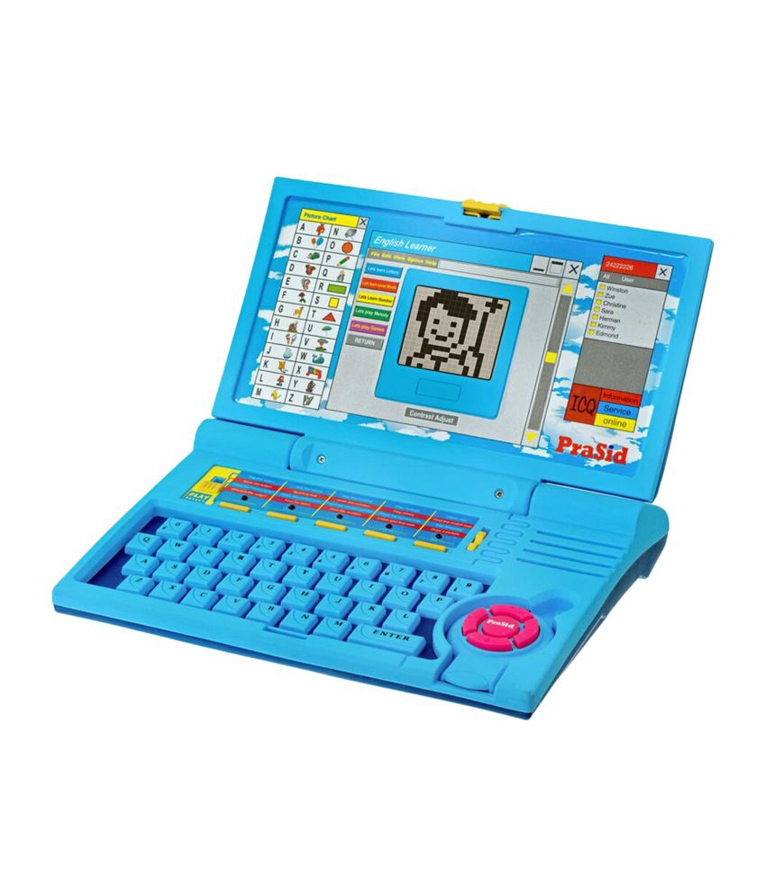 Prasid Combo Of English Learner Kids Laptop (Blue) & Hindi ...