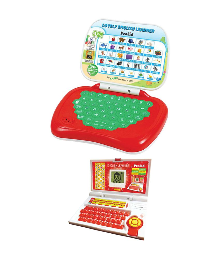 Prasid Combo Of English Learner Kids Laptop & Lovely English Learner Red