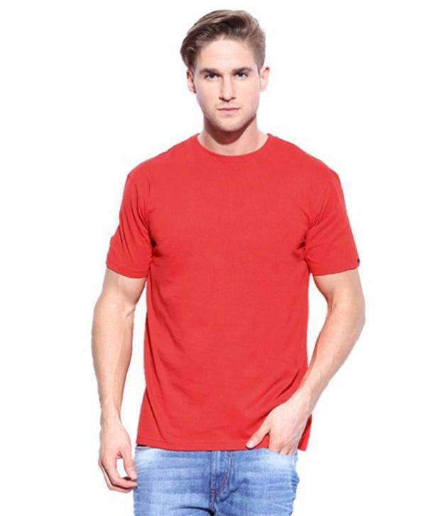 Rearc Red Cotton Round Neck T-Shirt