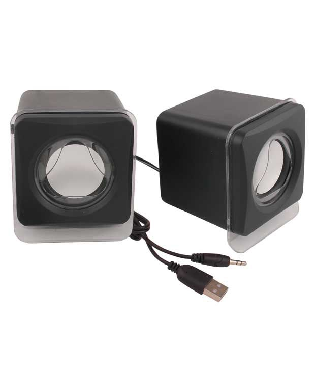 Speed-Desktop-Speakers-2.0-Computer-Speakers-Black