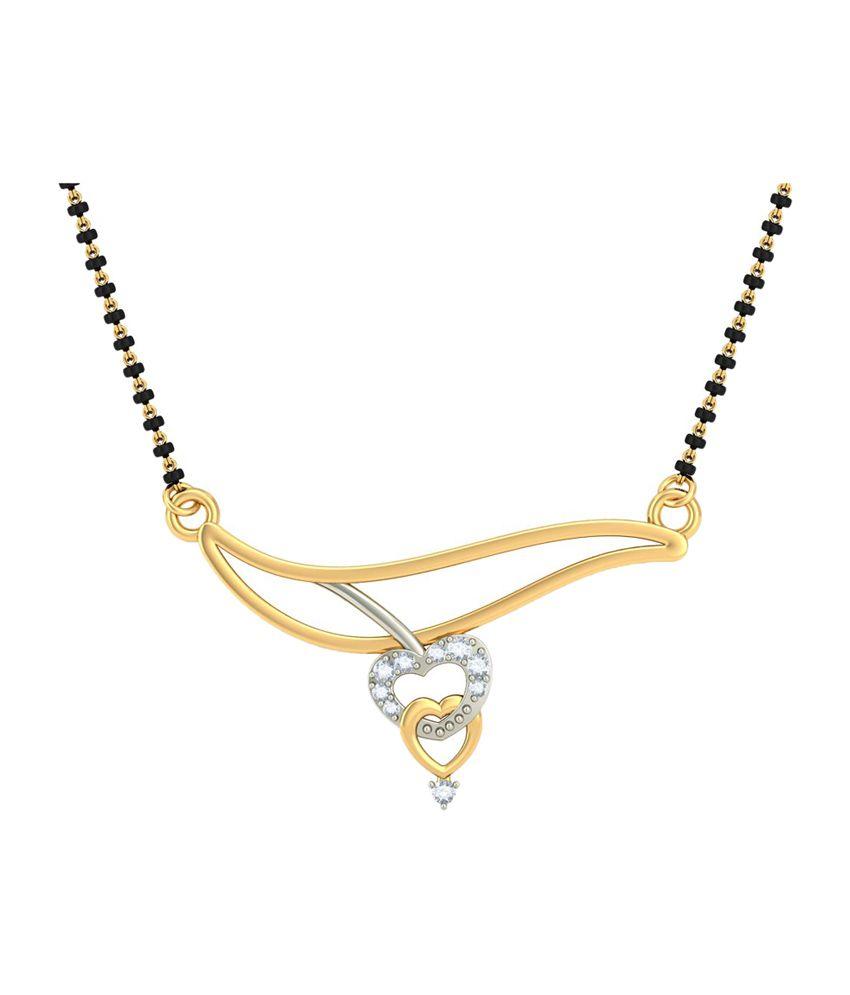 Bluestone 14Kt Yellow Gold & Diamond Anamitra Tanmaniya