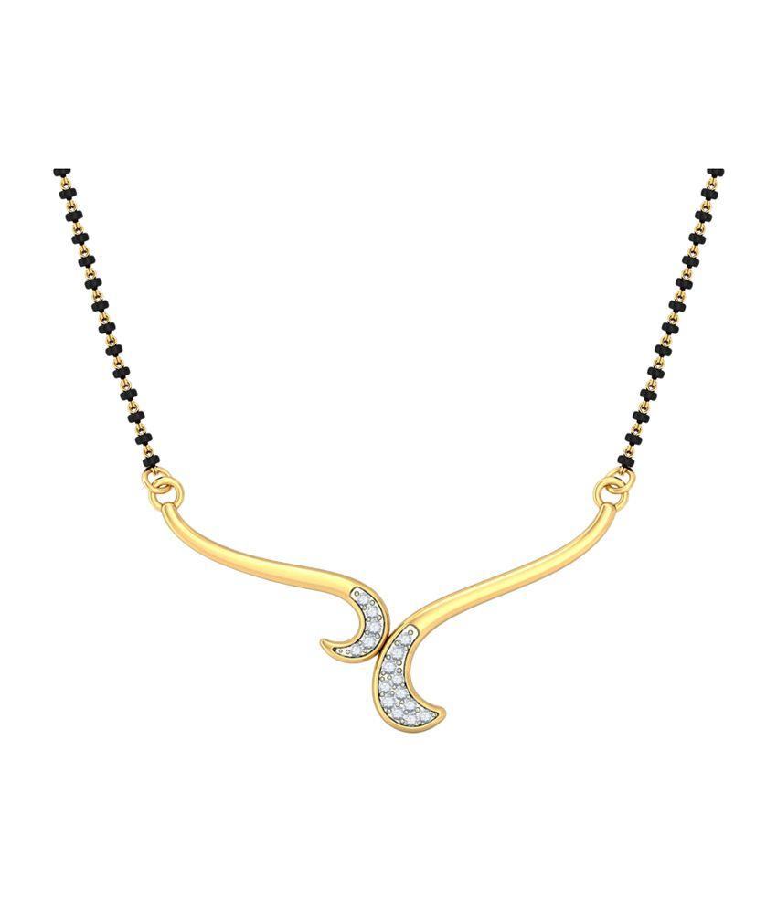 Bluestone 14Kt Yellow Gold & Diamond Chandrima Tanmaniya