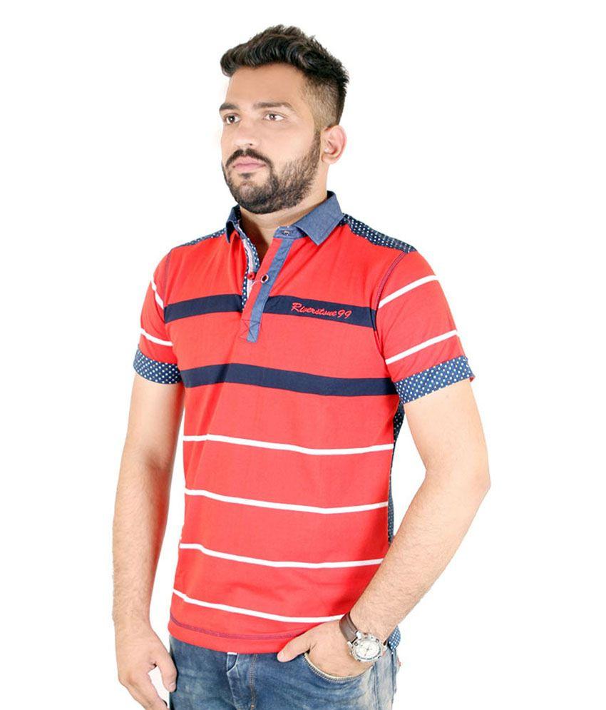 Kartstring Red Cotton T-Shirt