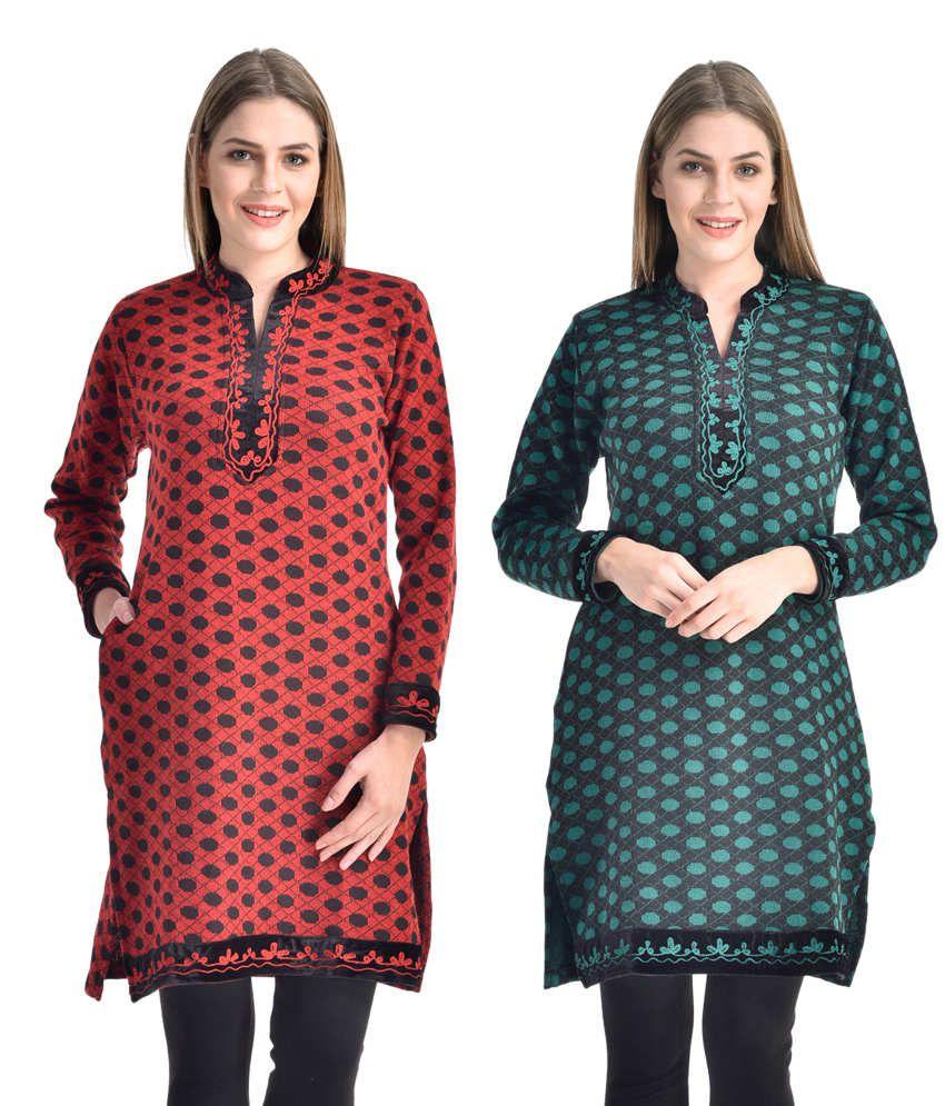 Rakshita's Collection Woolen Kurti ( Set Of 2)