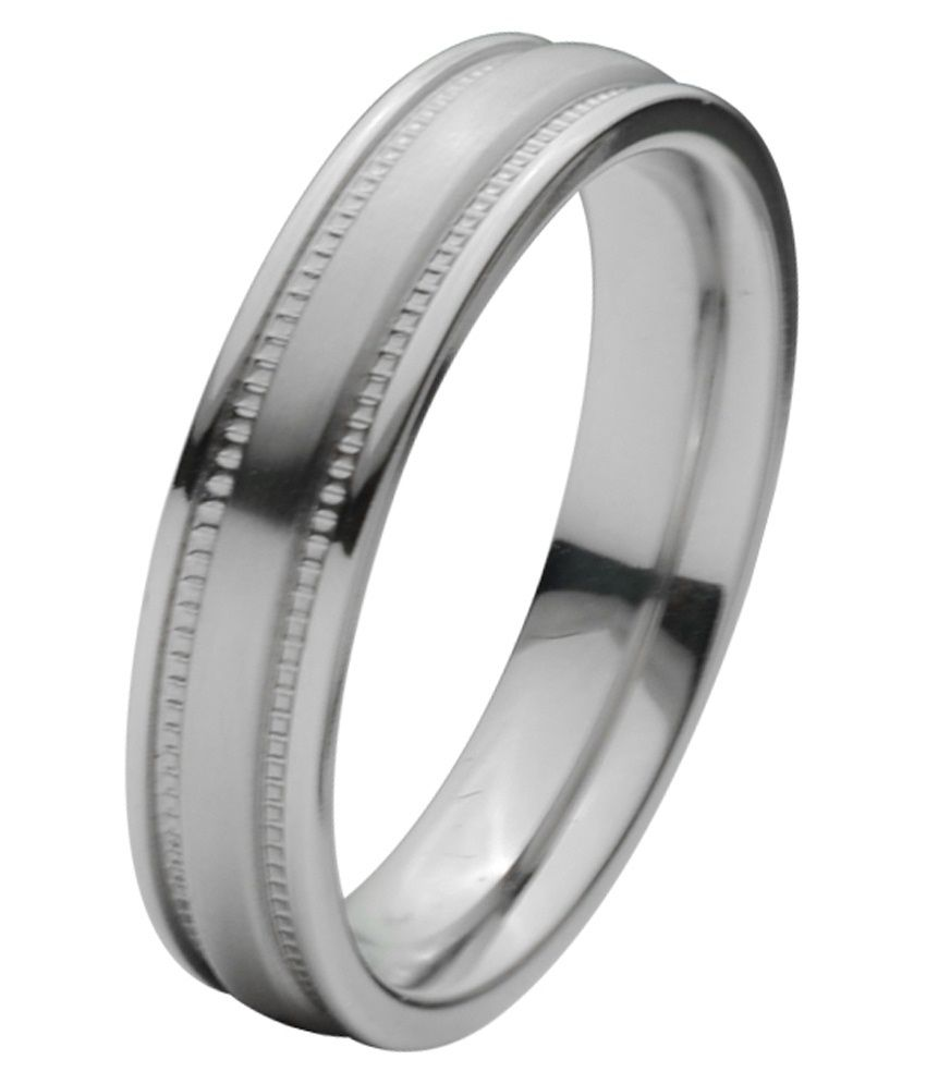 Inox Jewelry Silver Stainless Steel Ring
