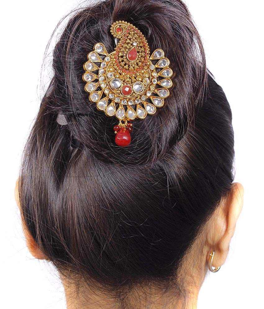 Hair accessories online snapdeal -  Much More Traditional Ethnic Design Crystal Made Partywear Hair Pin Jewellery For Women Girls