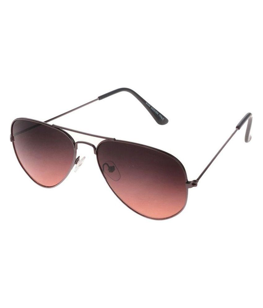 Silver Kartz Metal Aviator Sunglasses