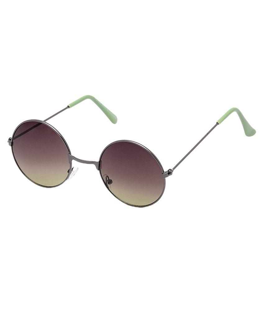 Brandvilla Black Metal Aviator Sunglasses