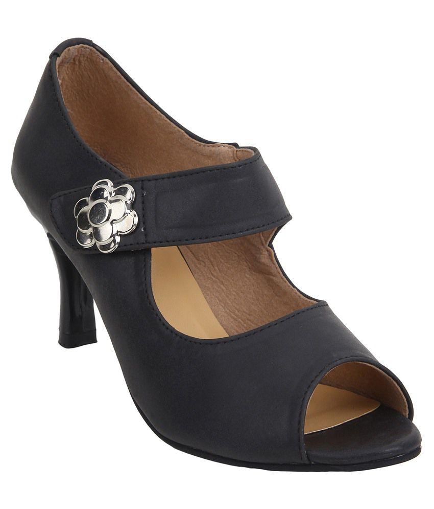 Glitzy Galz Black Heels