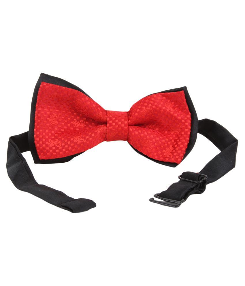 Alvaro Castagnino Red Micro Fiber Bow Tie