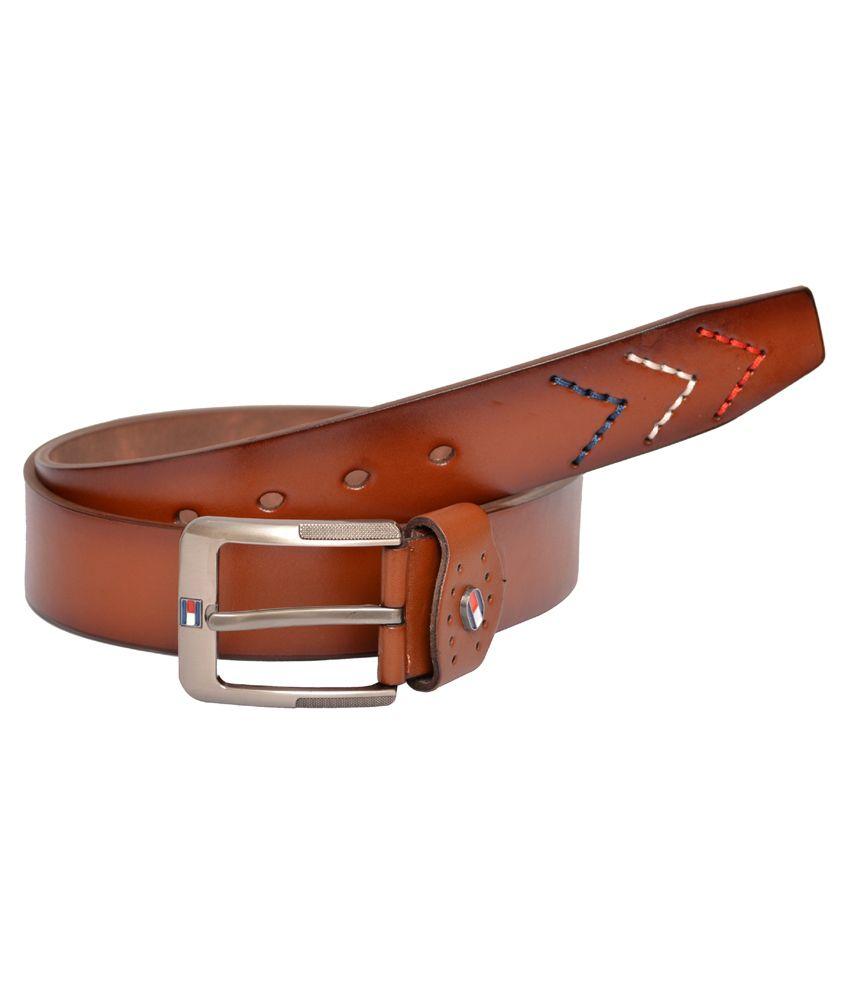 Double F Maroon Casual Belt