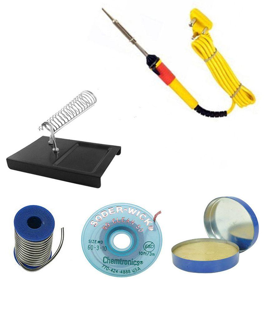 Easy-Electronics-Yellow-Plastic-Soldering-Iron-Kit