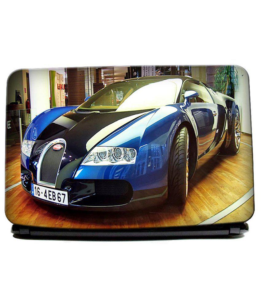 hawtskin bugatti veyron black and chrome super car laptop skin best price in. Black Bedroom Furniture Sets. Home Design Ideas