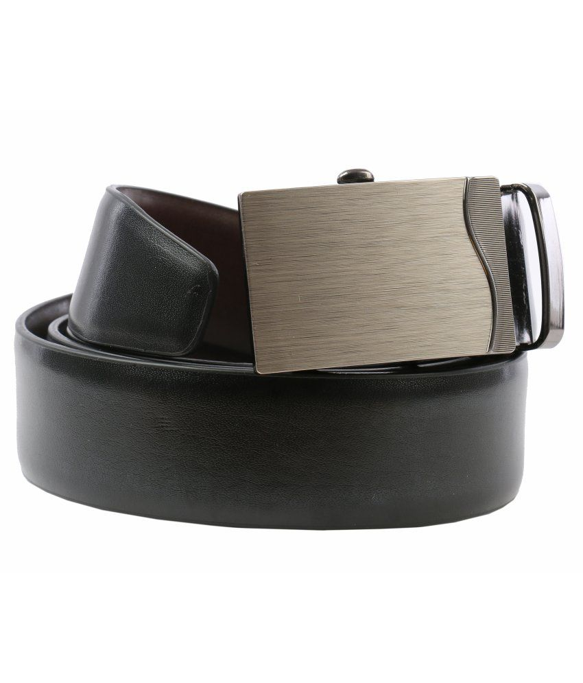 Walletsnbags Black Autolock Buckle Formal Belt For Men