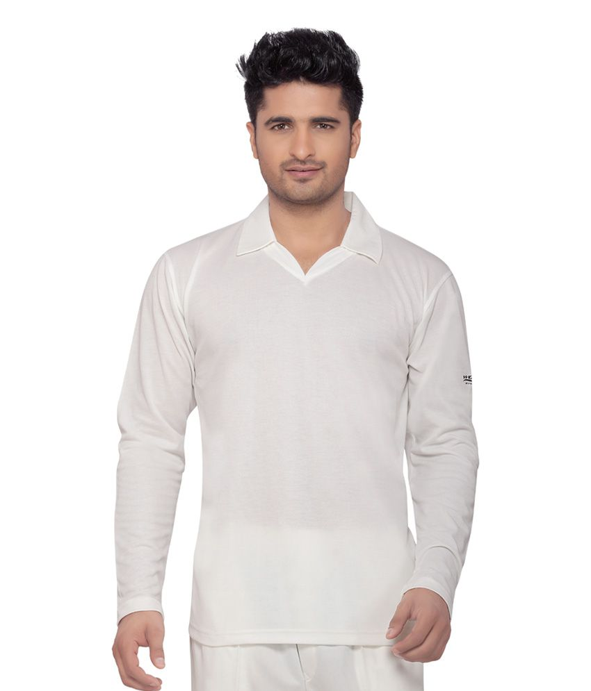 Wolf Full Sleeves Cricket Wear White T-Shirt
