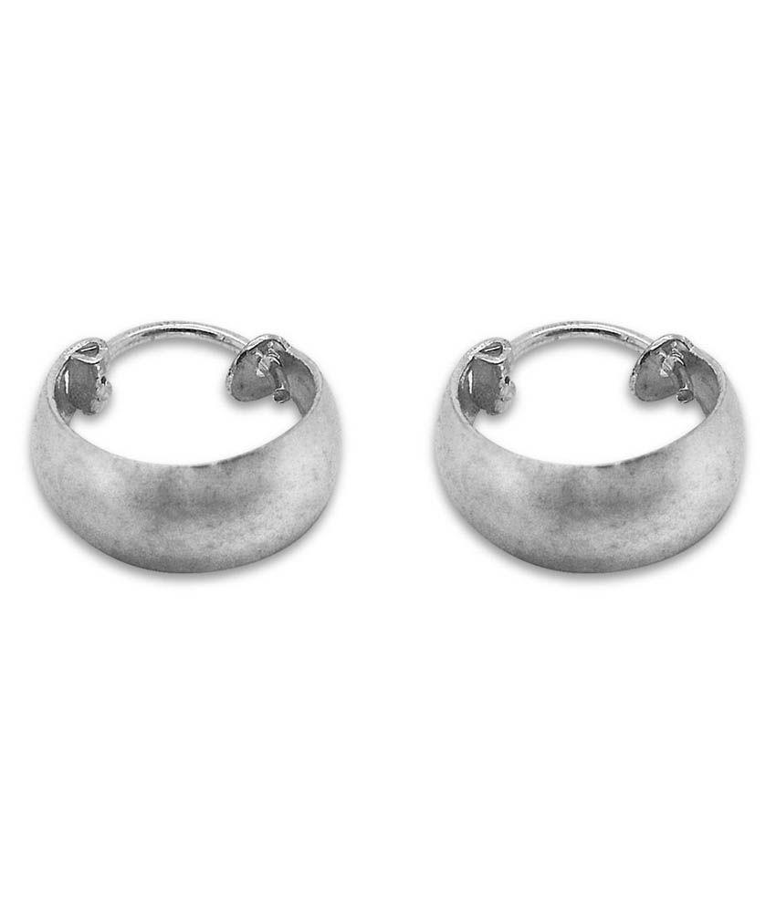 Fusionkraft Silver 92.5 Sterling Silver Hoop Earrings