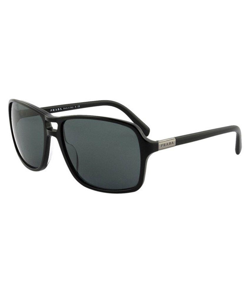 Prada Black Frame Rectangular Sunglasses - Buy Prada Black Frame ...