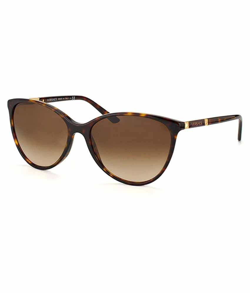 a5f5adb672df Versace Brown Frame Cat-Eye Sunglasses - Buy Versace Brown Frame Cat-Eye  Sunglasses Online at Low Price - Snapdeal