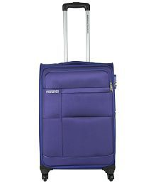 American Tourister Purple Polyester 4 Wheel Trolley