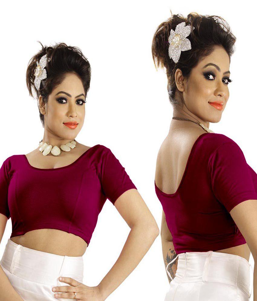 Abhi Pink Cotton Blouses
