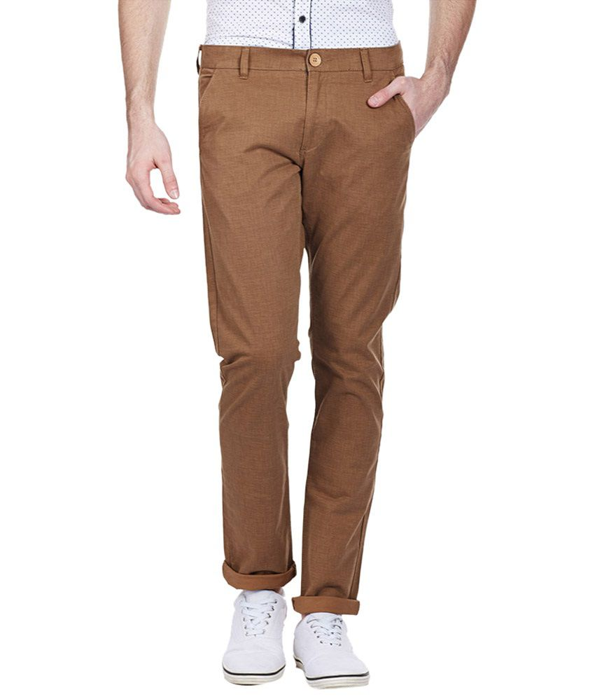 Bandit Brown Casual Chinos