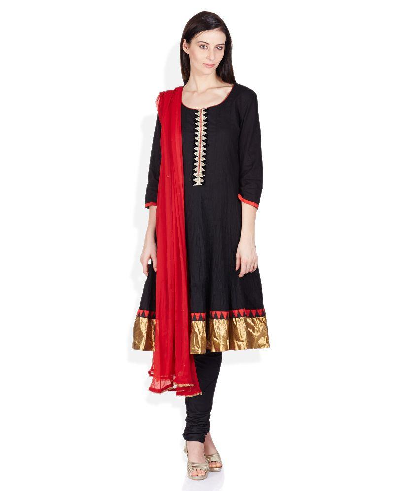 Melange Black Salwar Suit Set