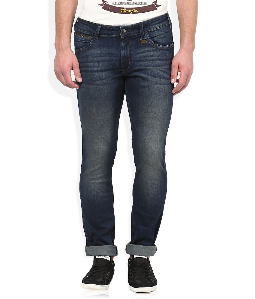 Wrangler Blue Light Wash Slim Fit Jeans