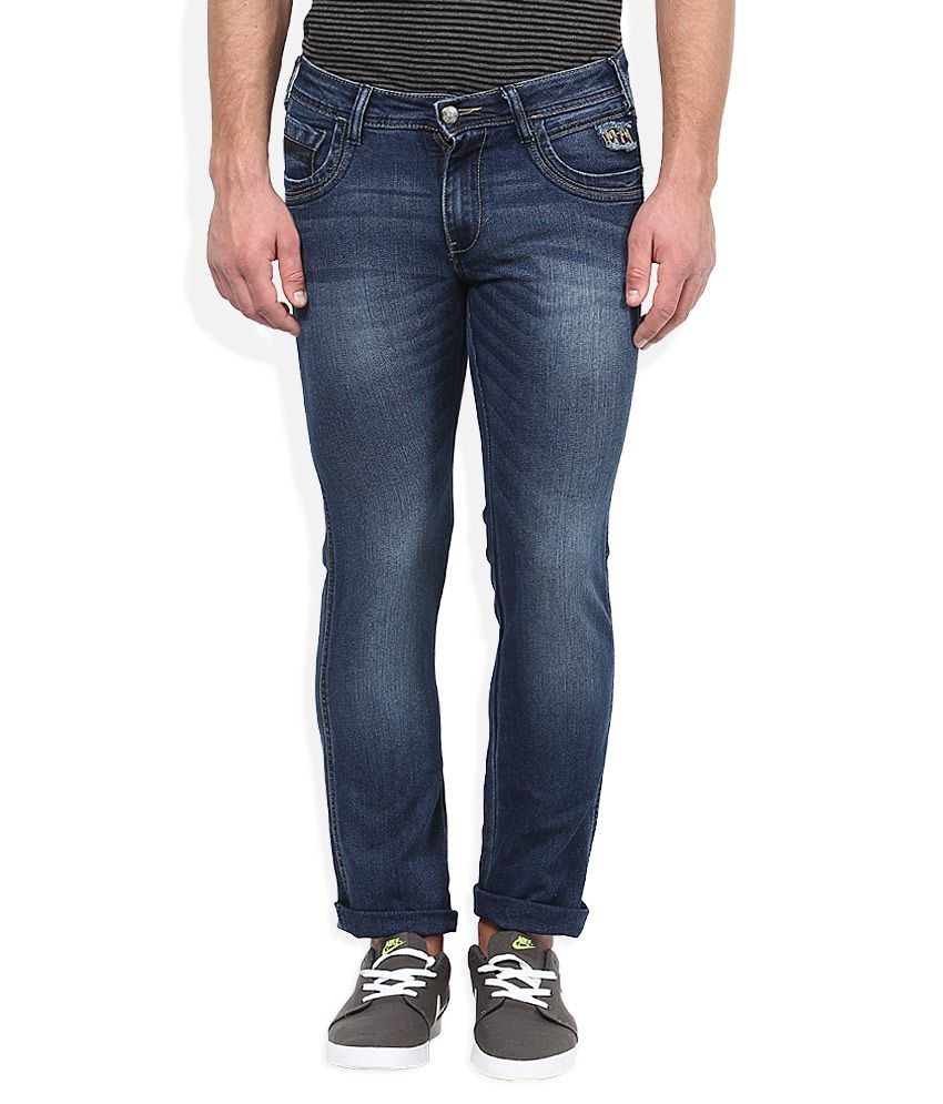 Wrangler Blue Medium Wash Slim Fit Jeans