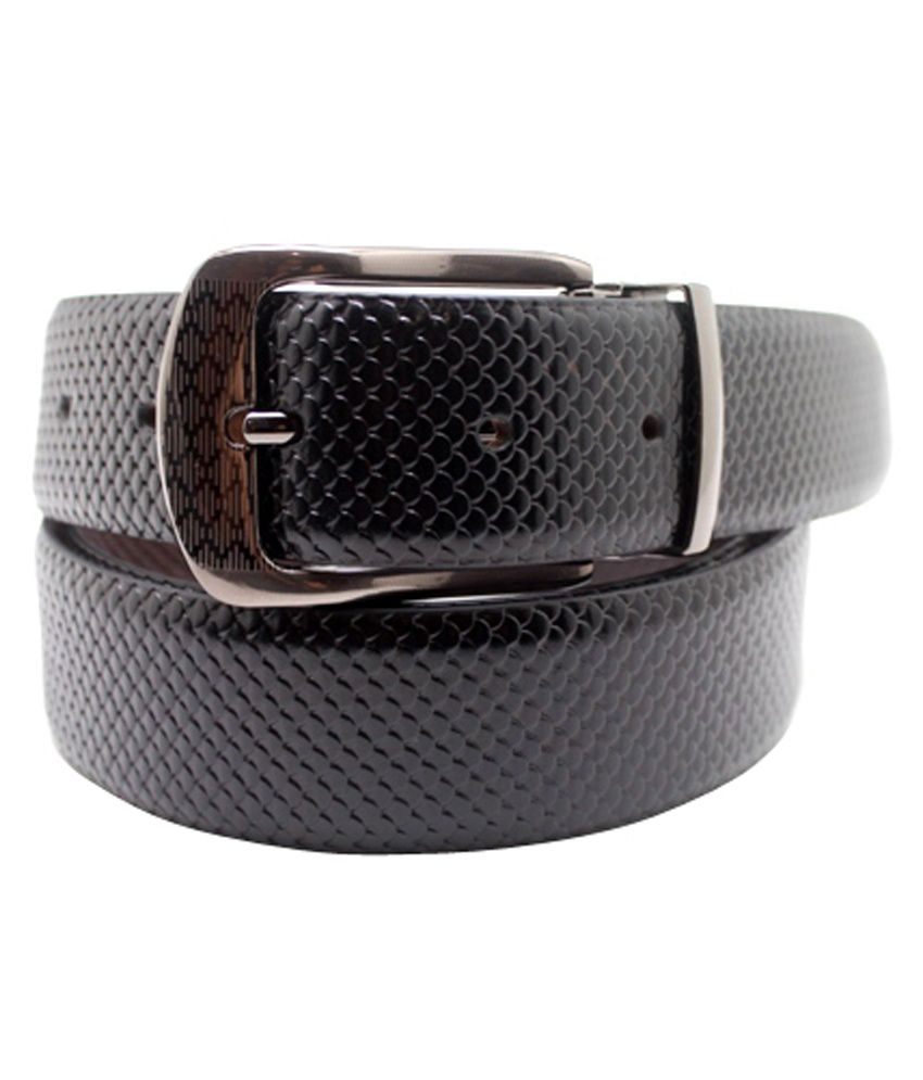 Urban Vintage Black Leather Pin Buckle Belt