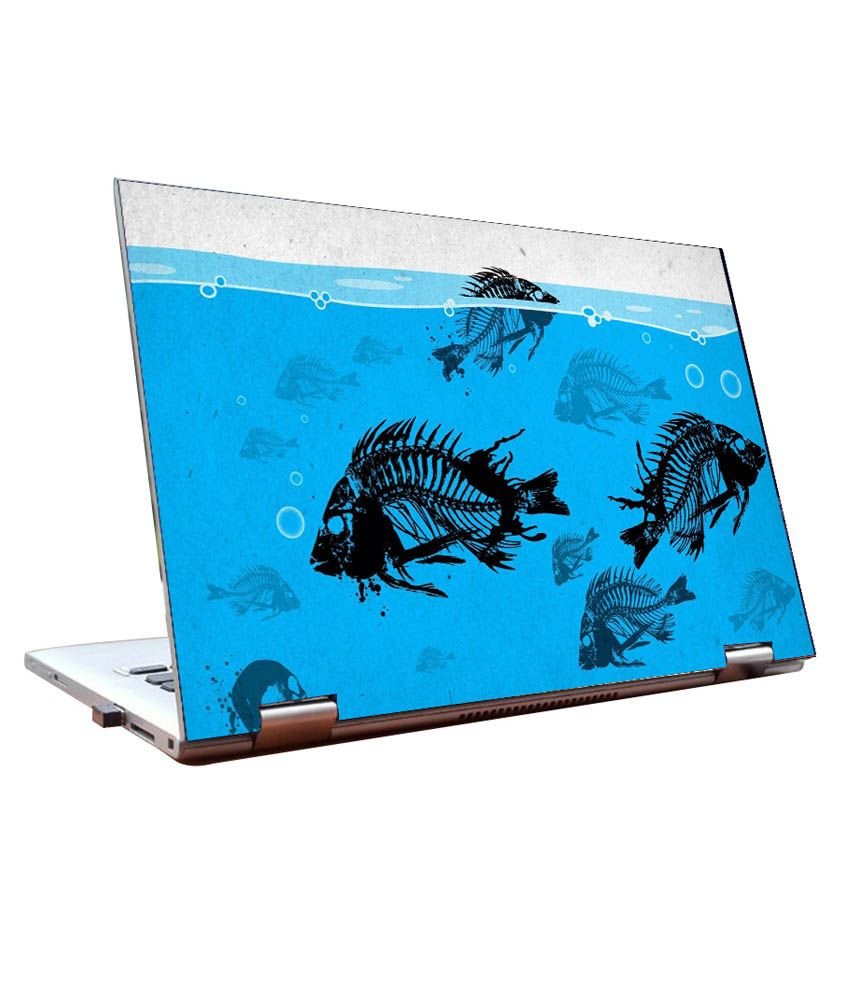Aquarium fish tank snapdeal - Laptop Skins 14 Inch Aquarium Fishes Abstract Dell Lenovo Acer Hp Jyard