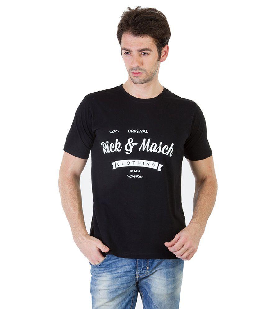 Rick And Masch Black Cotton T-shirt